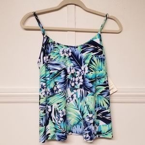 NWT St. Johns Bay Floral Tankini Size 8